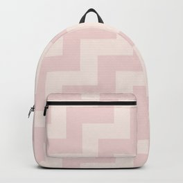 Modern Minimalist Step Design Two Tone Pink Backpack