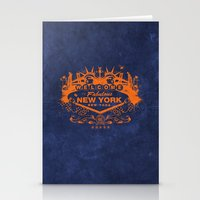 sin city Stationery Cards featuring Sin City (Orange/Blue) by Gusto NYC