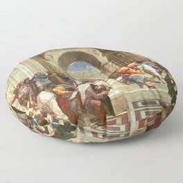 School Of Athens Painting Floor Pillow