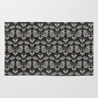 floral pattern Area & Throw Rugs featuring Floral Pattern by Robin Curtiss