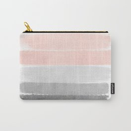 Color story millennial pink and grey transition brushstrokes modern canvas art decor dorm college Carry-All Pouch