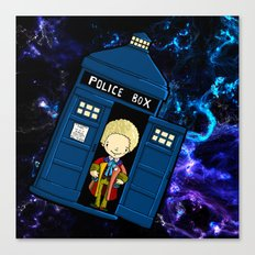 Tardis in space Doctor Who 6 Canvas Print