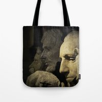 rushmore Tote Bags featuring Faces of Rushmore by Judith Lee Folde Photography & Art