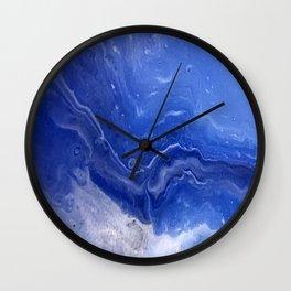 Design pattern in blue Wall Clock