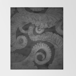 Octopus BW. Throw Blanket
