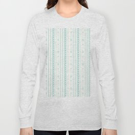 Blush green bohemian arrows zigzag geometrical Long Sleeve T-shirt