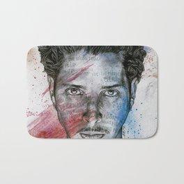 Pretty Noose: Red & Blue: Tribute to Chris Cornell Bath Mat