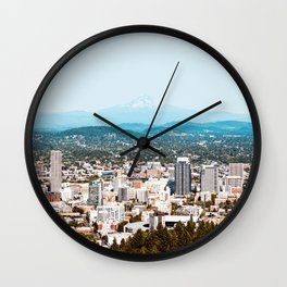 Portland from Above Wall Clock