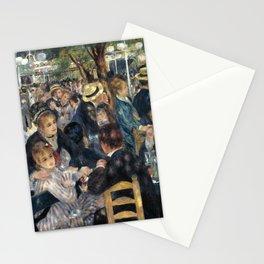 Auguste Renoir -Bal du moulin de la galette, Dance at Le moulin de la Galette Stationery Cards