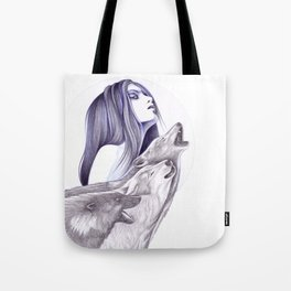 Call Of The Wolves Tote Bag