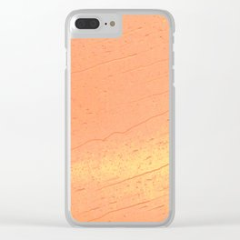 Orange Rain Clear iPhone Case