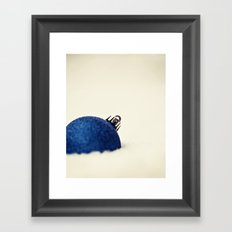 Ornament in the Snow Framed Art Print