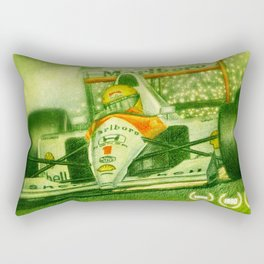 Ayrton Senna Tribute Rectangular Pillow