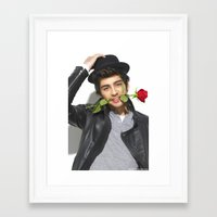 zayn malik Framed Art Prints featuring Zayn Malik by Sierra Ferrell