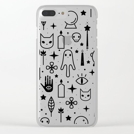 Spirit Symbols White Clear iPhone Case