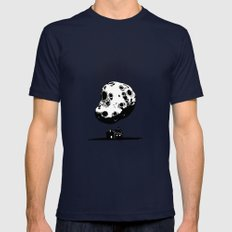 Trouble At Home MEDIUM Navy Mens Fitted Tee