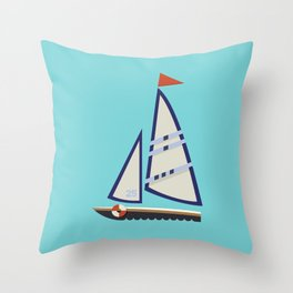 Sailboat I Throw Pillow
