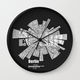 Berlin Map Wall Clock