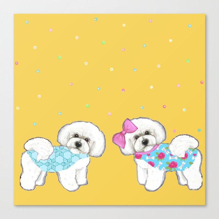 Bichon Frise Holidays Yellow Cute Dogs Christmas Gift Holiday Birthday