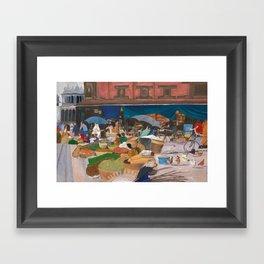Kathmandu Market - Nepal Framed Art Print
