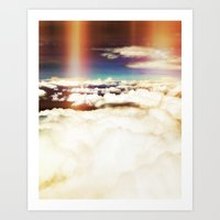 Clouds with a hint of rainbow Art Print