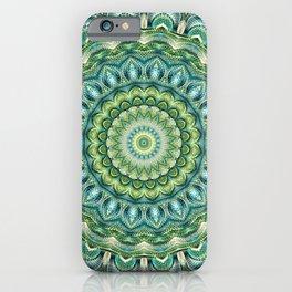 Flower Of Life Mandala (Spring Garden) iPhone Case