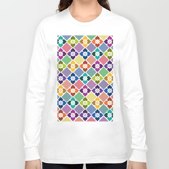 Colorful Floral Pattern II Long Sleeve T-shirt