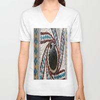 shell V-neck T-shirts featuring Shell by Photaugraffiti