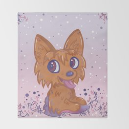 Little Yorkie Throw Blanket