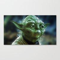 yoda Canvas Prints featuring Yoda by Robin Curtiss