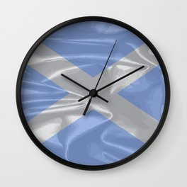 Scotland Silk Flag Wall Clock