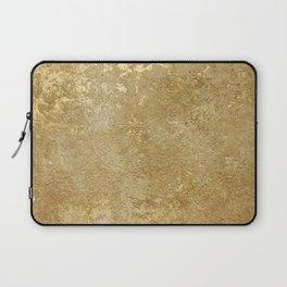 Gold Rush, Golden Shimmer Texture, Exotic Metallic Shine Graphic Design Laptop Sleeve