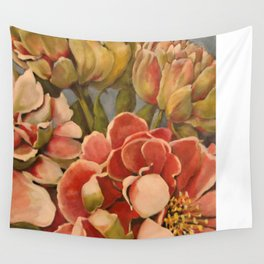 Peonies in Pink Wall Tapestry
