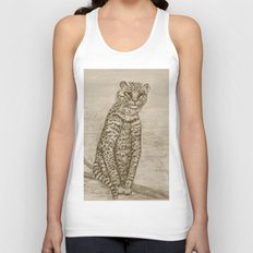 Ocelot Watching, by Ave Hurley Unisex Tank Top