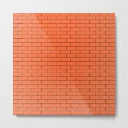 Orange Wall Metal Print
