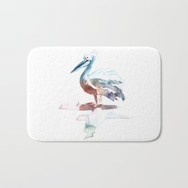 Pelican / Abstract animal portrait. Bath Mat