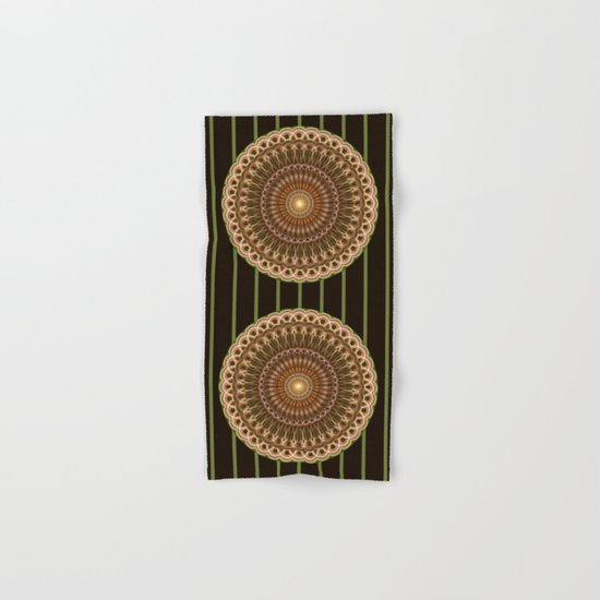 Patterns mandala in earth tones Hand & Bath Towel
