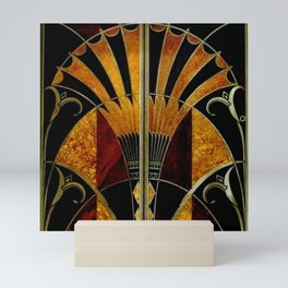 art deco wood Mini Art Print