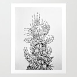 Reaching To Death Art Print