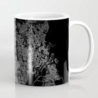 copenhagen Mugs featuring Copenhagen by Line Line Lines