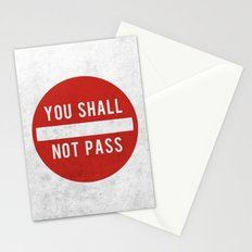 you shall not pass Stationery Cards