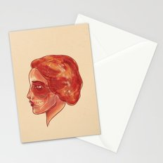 Woman (profile) Stationery Cards