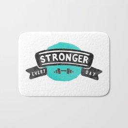 Stronger Every Day (dumbbell) Bath Mat
