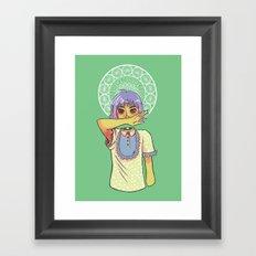 Miss Mouth Framed Art Print