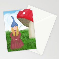 Gnome girl Stationery Cards