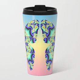 A touch of Spring, fantasy flower pattern design Travel Mug