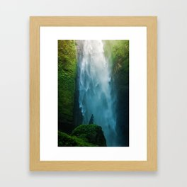 Waterfall Valley (Color) Framed Art Print