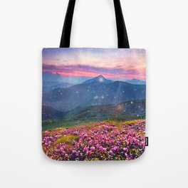 Blooming mountains Tote Bag