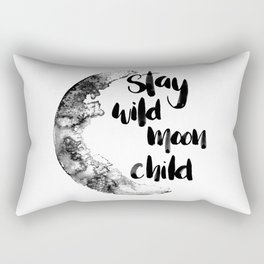 Stay Wild Moon Child Watercolor Rectangular Pillow