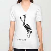 diver V-neck T-shirts featuring Diver by Hinterlund